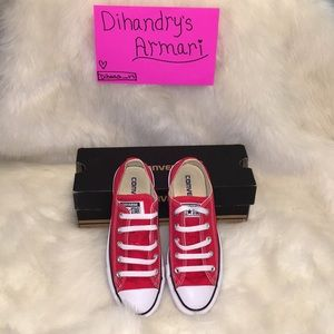 All star red converse.
